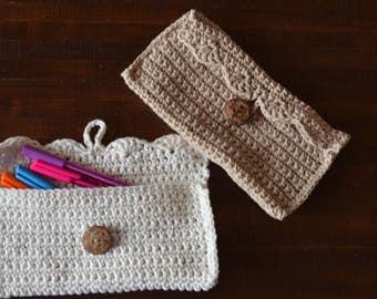Cotton Crochet, Pencil Case, Makeup Case