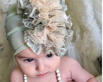 Baby Girl Headband, FREE SHIPPING, Baby Headband, Soft Baby Headband, baby headbands, Flower Headband With Rhinestone,Bohemian Baby Headband
