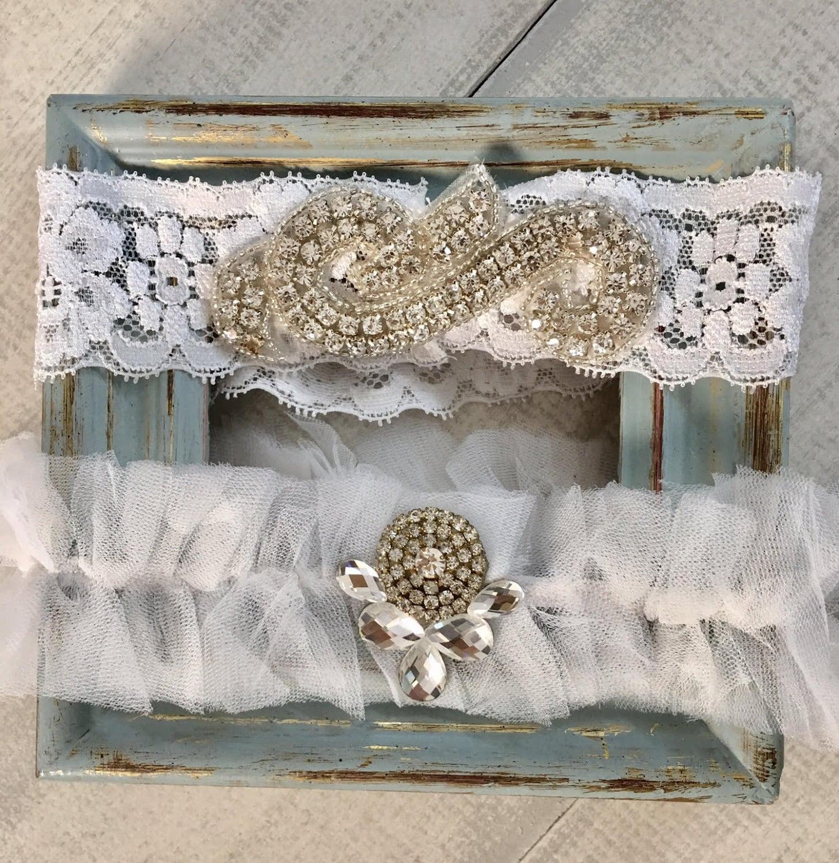 Personalized Wedding Garter Sets: Lace Wedding Garter Set Custom Fit Garter Bridal