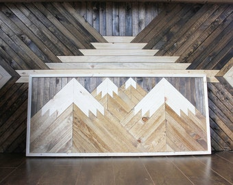 Mountain Wood Wall Art
