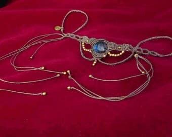 mystical labradorite tiara choker