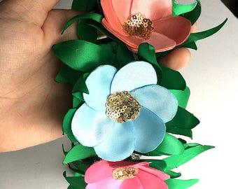 Hawaiian Inspired Flower Crown | Luau Floral Crown | Hawaiian Headpiece