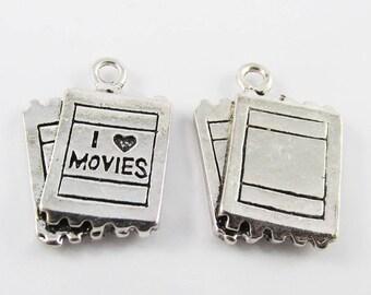 Bulk Movie Tickets Charm Pendant Cinemas 25x18mm Select Qty