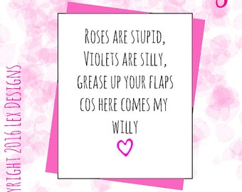 filthy valentines day card for her rude sexy dirty funny banter novelty hilarious poem