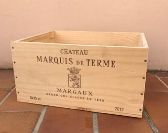 French Original Wine Crate Bottle MARGAUX 2703201721