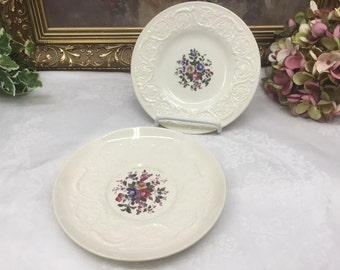 Wedgwood Swansea dessert  plate and under plate for cream soup.