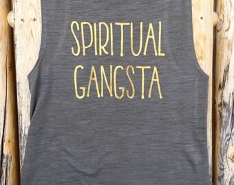 Spiritual Gangsta women's muscle tank - yoga top - yoga tank - crossfit tank - spiritual gangster - spiritual gangsta - crossfit apparel
