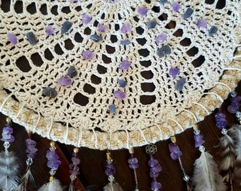 Purple rain • Handmade dreamcatcher
