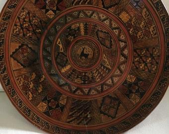 Hand made Peruvian tribal plate(ceramics)