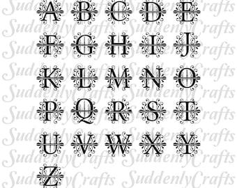 Apex Simple Split Monogram Full Set SVG