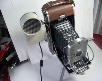 repurposed bellows camera to night light