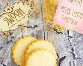 Meyer Lemon Shortbread Cookie Gift Box ~ Wedding Cookies ~ Tea Party Cookies