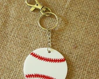 Baseball Keychain/Tag