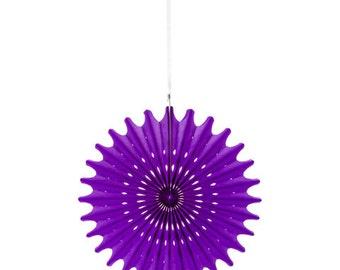 Hanging Die Cut Tissue Medallion - Purple - 3 pieces