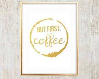 But First, Coffee printable wall art