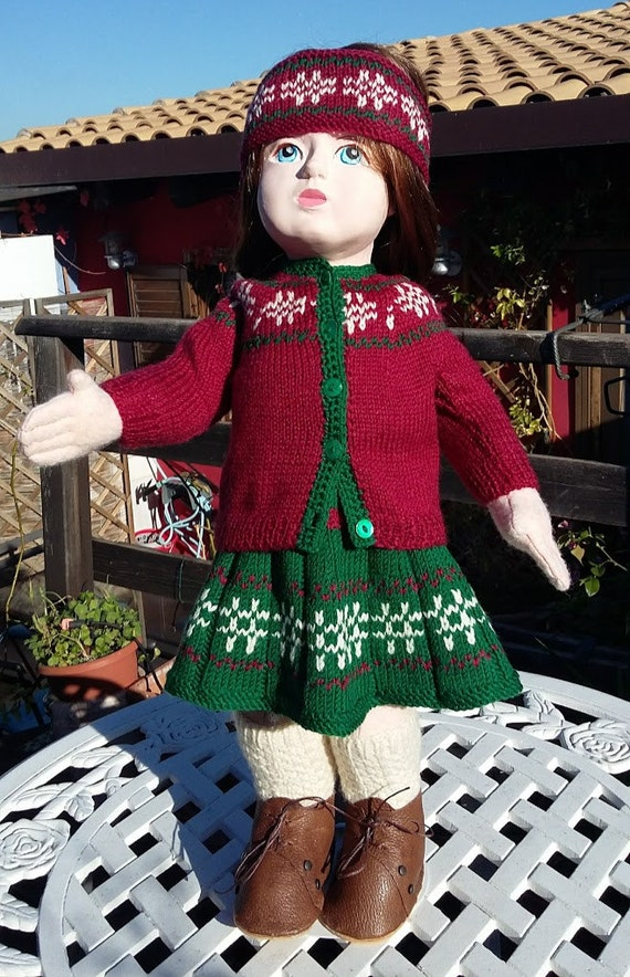 Christmas holidays outfit for 18 inch dolls