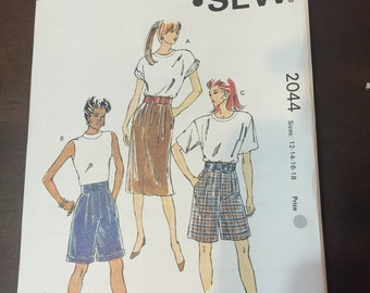 Misses' Shorts and Skirt, Pattern #2044 by Kwik Sew
