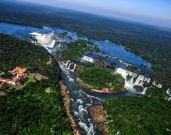 Aerial Photograph of Iguazu Falls, Parana, Brazil (Border of Argentina)