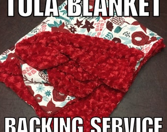 TULA BLANKET BACKING Service, Tula Minky Blanket, Blanket Backing, Custom Blanket Backing, Muslin Blanket