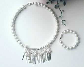 Toddler Hmong silver necklace and bracelet set, Xauv, Hmong jewelry, Girl Toddler Hmong necklace, Hmong Toddler silver necklace