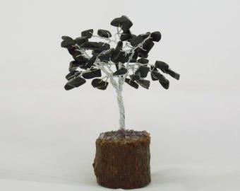 Bonsai Tree - Crystal Bonsai, Black Tourmaline Bonsai, Handmade Gemstone Tree