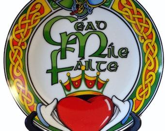 Irish 'Cead Mile Failte' Decorative Plate (10cm)