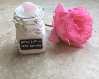 Rose Quartz and Rose Lotion