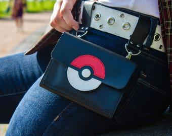 Pokeball Bag - Pokemon Leather Bag - Pokemon Belt Bag