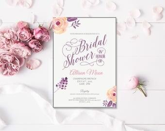 Bridal Shower invitation - Printed or Digital