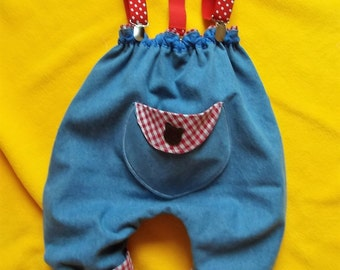 Made in France. Removable top/bib pants, boy/girl | unique piece