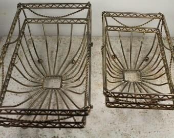 Storage Basket Set - Unknown Metal - Circa 1980's