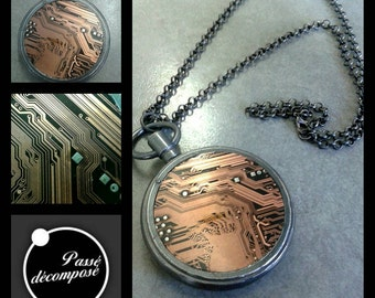 Necklace Watch Gusset Circuit Board Print