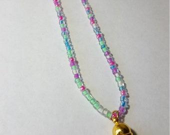 Girl's Tassel Necklace, Pastel Tassel Necklace, Spring Tassel Necklace, Diffuser Necklace, Girls Diffuser Necklace, Spring Diffuser Necklace