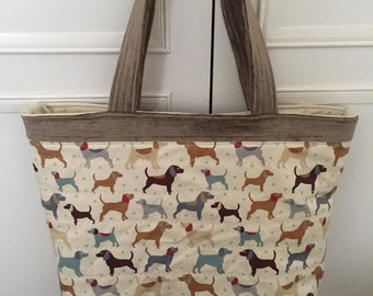 Bag, Quilted bag, shopper, dog, dogs, terrier