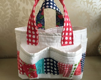 Quilted bag, baby bag, bag