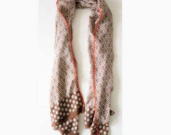 Printed scarf in cotton
