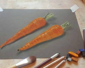 Still life with carrot