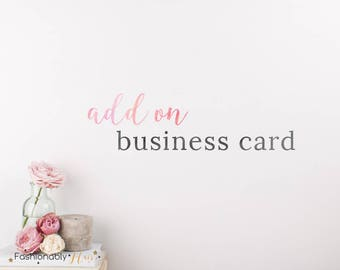Custom Business Card|Add on Business Card| Business Card Design|Custom Stationery