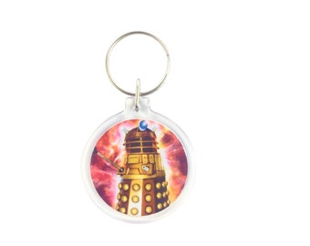 Dr Who Dalek Exterminate Keychain - Zipper Charm Party Favor