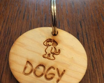 Dog tag,Dog tag wood ,Dog id tag, Personalized engraved  dog tag name tag laser cutting,custom engraving ,Dog id tag, Pet tag wood