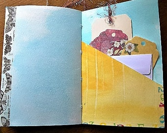 Art journal, handmade journal, watercolor paper, artist tools
