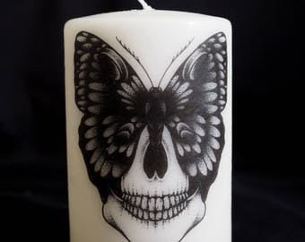 MODEL way candle / skull Butterfly