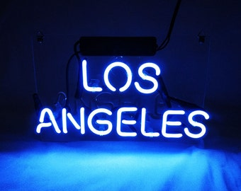 "New 'Los Angeles' City Handcrafted Home neon Light bar sign 14""x5"""