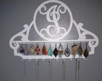 Metal jewelry hanger