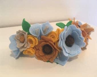 Flower Crown- Blue Earth