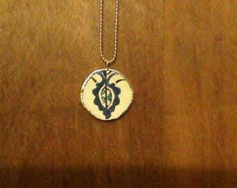 broken china pendant necklace