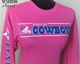 Dallas Cowboys Breast Cancer Awareness Tee (Long Sleeve)