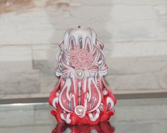 Carved candle, souvenir