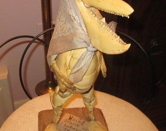 Whimiscal Lobster Shell Art One of a Kind!!!