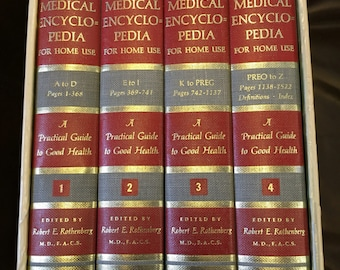 The New Illustrated Medical Encyclopedia for Home Use, 1967, 4-volume set in nice slipcase. Beautiful set.